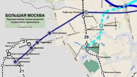 На их картах метро до Одинцова