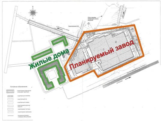 План застройки завода в Вяземах