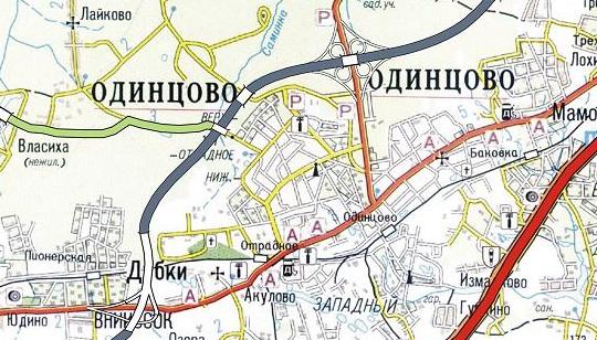 Схема объездной дороги