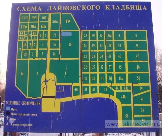 Схема лайковского кладбища