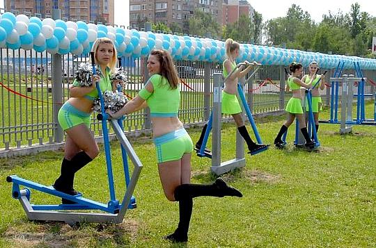 В Одинцово появились бесплатные уличные тренажеры 6accb09966f