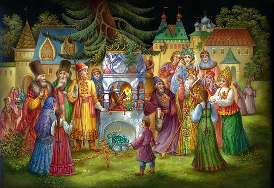 Сказка о царе Салтане, федоскинская шкатулка