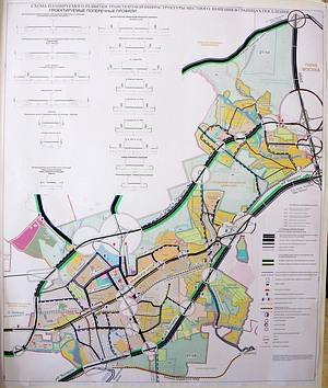 Схема планируемого развития транспортной инфраструктуры местного значения в границах поселения.