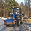 Уборка налыжероллерной трассе Одинцово  проводится второй раз