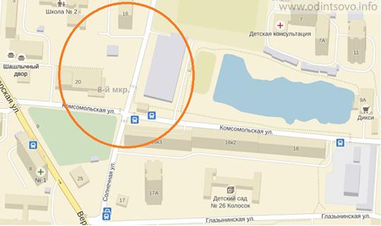 Ограничение движения транспорта в 8-м микрорайоне Одинцово
