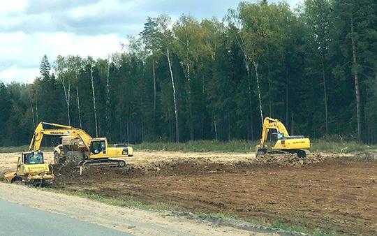 Работы на Минском шоссе