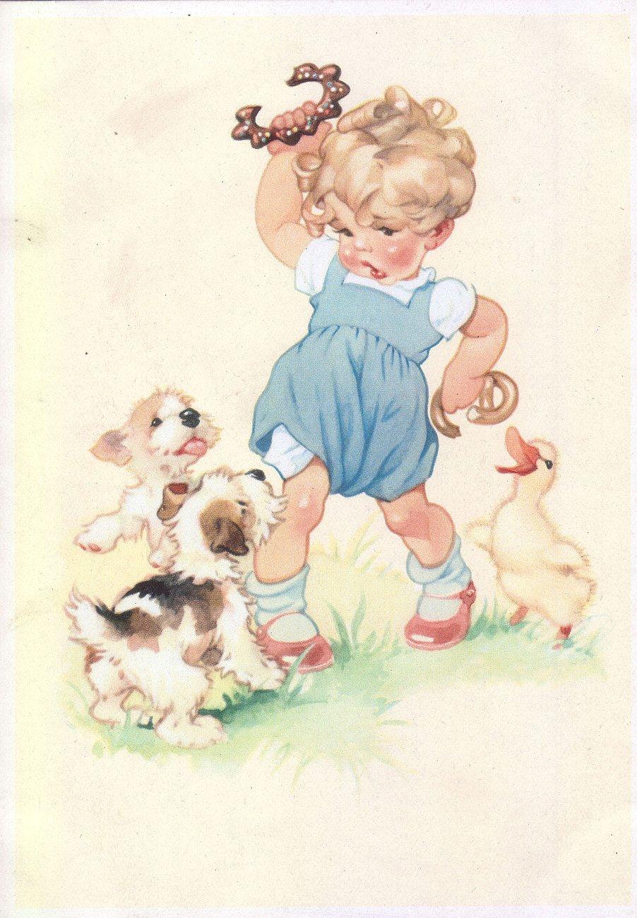 часто почтовые открытки с детьми самый