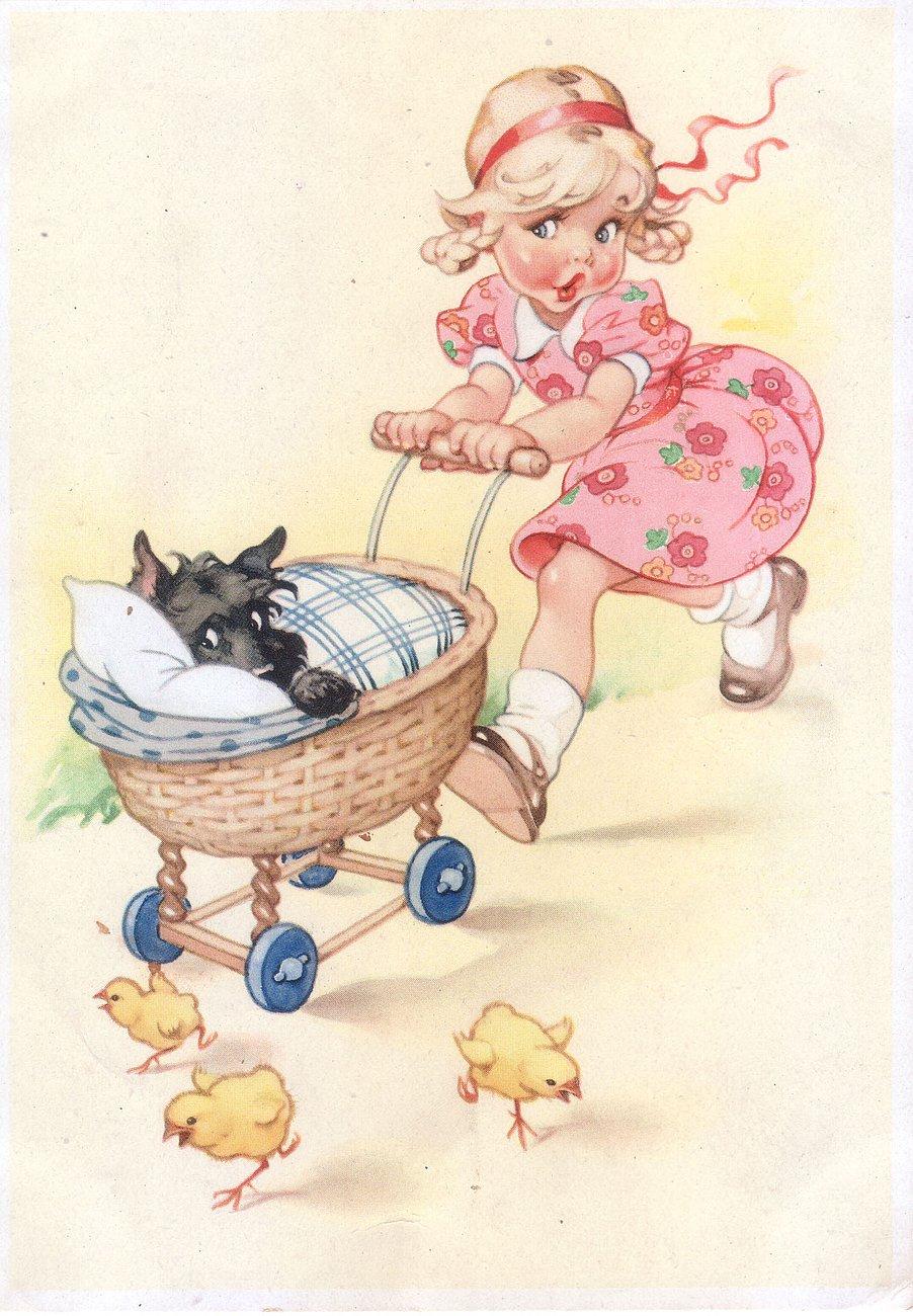 Картинка немецкой открытки, рисунки