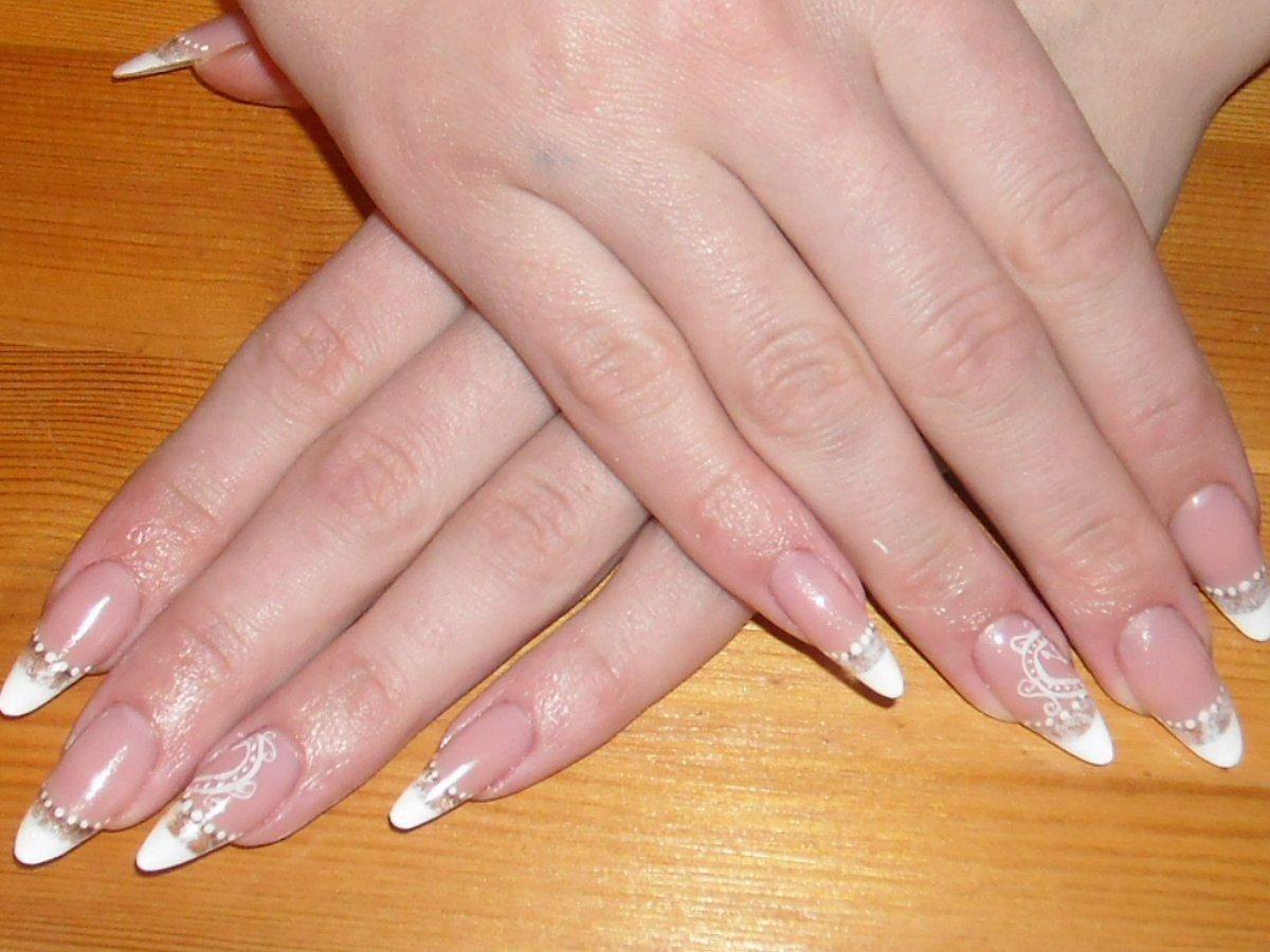Миндальные ногти фото нарощенные