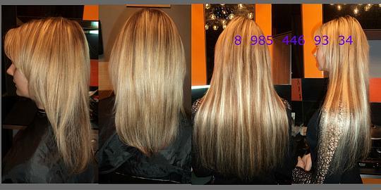 Наращивание мелирование волос