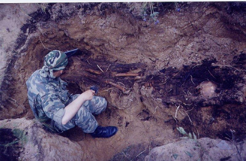 На раскопках., поисковая работа, komandir.