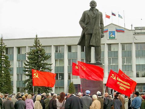 Одинцово. Вдень рождения В. И. Ленина., Ленин и Сталин - наше знамя!, nkolbasov, Одинцово, Ново-Спортивная д.6