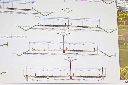 Реконструкция Красногорского шоссе, Фонари на разделительной полосе