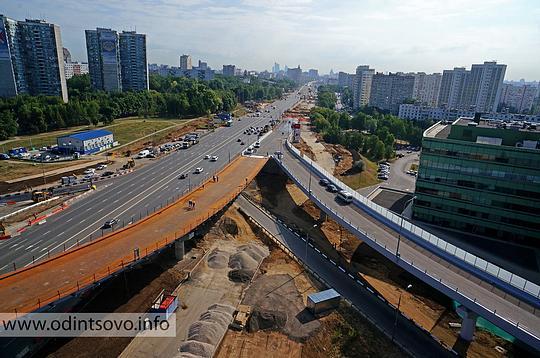 Можайского шоссе с МКАД
