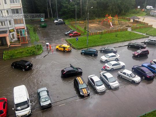«Новая Трехгорка», ул. Кутузовская, дождь, ливень, потоп