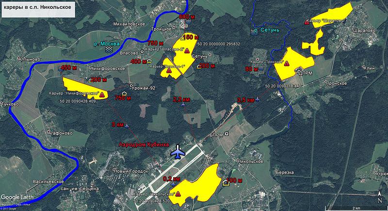 Карта карьеров, Никольское сельское поселение, Июль