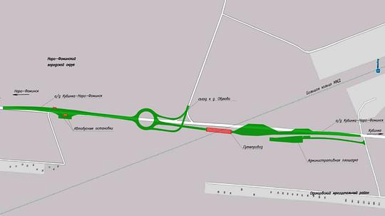 Путепровод вАкулово, Утверждён проект планировки платного путепровода вКубинке