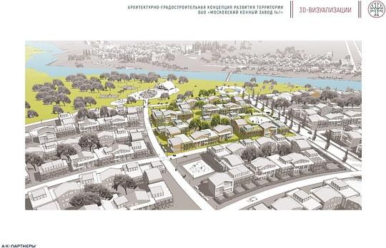 Визуализация проекта застройки полей отНиколиной Горы доАксиньино, Власти Москвы готовят застройку полей уНиколиной Горы