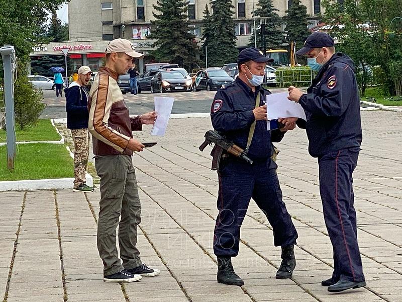 Очередной пикет прошёл у здания администрации в Одинцово