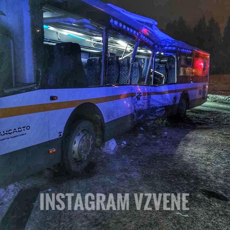 Три человека пострадали вДТП сучастием автобуса игрузовика вОдинцовском округе